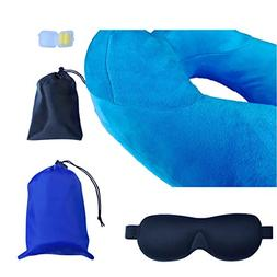 Comfort Travel Pillow , Inflatable Great For Airplane, Car a