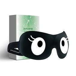 Kuershuang Cute 3D Sleep Mask Soft Lightweight Comfortable E