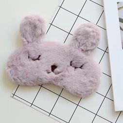 Cute Cartoon Animal Rabbit Plush Sleep Eye Mask Well Rest Ai