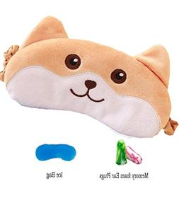 Cute Dog Sleep Mask By Hitos   Eye Mask with Ice Pad Super S
