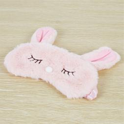 Cute Sleep Rest Pink Rabbit Eye Mask Nap Shade Cover Girl Ki