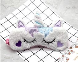 Cute Sleep Rest Unicorn Eye Mask Shade Cover for Girl Kid Te