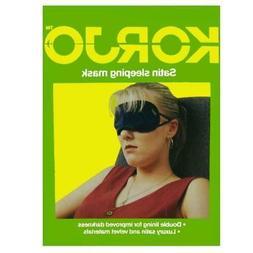 Korjo Travel Rest Sleep Eye Mask soft Satin Shade Cover Slee