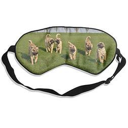 Dog Sharpei Animals Pure Silk Sleeping Mask Reusable Cold To