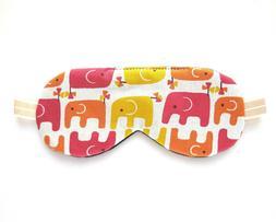 Elephant Sleep Eye Mask, Organic Cotton Blindfold, Adjustabl