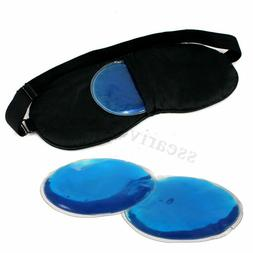Eye Gel Mask Cold Pack Warm Ice Cool Puffiness Headache Reli