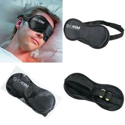 MEDca Eye Mask with Earplugs Soft and Light Black Adjustable