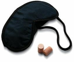 Lewis N Clark Eye Mask and Ear Plugs Black 705