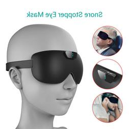 Eye Mask Anti Snore Smart Sleeping Stopper Aid Shade Cover R