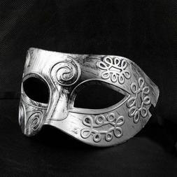 Eye Mask Men's  Burnished Silver  Metal Look Gothic  Fantasy