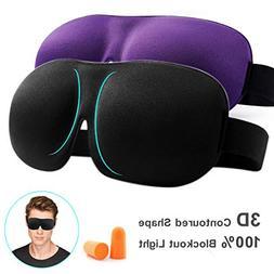 Eye Mask for Sleeping Sleep Mask 100% Blackout 3D Contoured