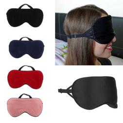Eye Mask Shade Sleep Blindfold Cover Travel Relax Rest Aid S