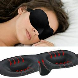 Eye Mask Sleep Travel Shade Cover Blindfold Night Day Time S