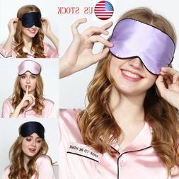 Eye Mask Soft Padded Travel Night Sleeping Blindfold Sleep A