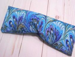 Eye Pillow Organic Lavender Flax Seed Purple Swirl Cotton Ey