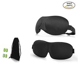 Best Eye Sleep Mask, 2Pcs of 3D High Quality Sleep Mask, Tra