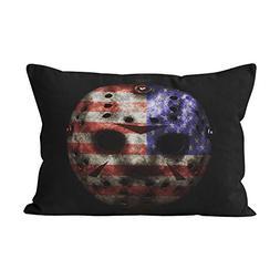 Suklly Fancy American Flag Hockey Mask Hidden Zipper Home De