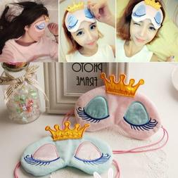 Fashion Travel Girl Gift Eye Mask Crown Long Cilia Princess