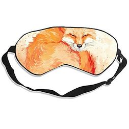 Fire Fox Sleep Mask Mulberry Silk Eye Masks Blinder with Adj