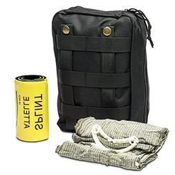 First Aid Kit - Includes Splint and Israeli Bandage - Fully