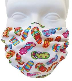 Flip Flops Style Face Mask - Filters Dust, Pollen, Allergens