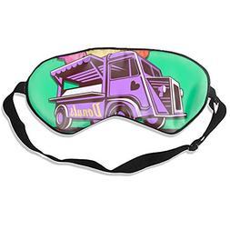 Fashion Food Truck Donuts Print Sleeping Mask Deep Rest Cont