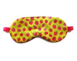 Fruit Sleep Mask Eye Shade Adjustable Cover Organic Cotton G