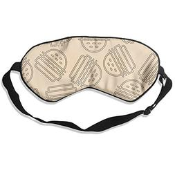 Funny Hamburgers Pattern 99% Eyeshade Blinders Sleeping Eye