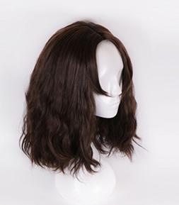 Menoqi Men's Short Curly Layered Wig Heat Resistant Wigs Hum