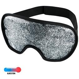 Gel Cooling Eye Mask – Hot Cold Therapy Compress, Gel Bead
