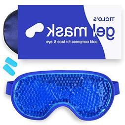 Gel Eye Mask,Hot & Cold Therapy for Puffy Eyes and Dry Eye,
