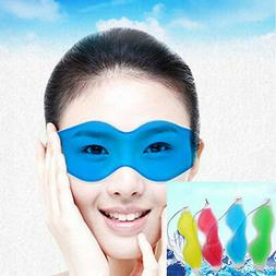 Gel Ice Cool Eye Mask Pack Warm Heat Soothing Tired Eyes Hea