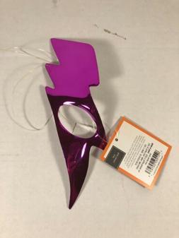 Gender Neutral Single Eye-LIGHTENING BOLT-Mask Metallic Purp