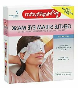 MegRhythm Gentle Steam Eye Mask Unscented 7 Count Compact Si