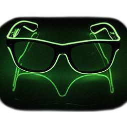 Glow Eye Glasses masks LED Light Up Glasses El Wire Glowing