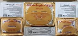 5 Pieces Gold Bio Collagen Facial Face Masks + 5 Pairs Pil