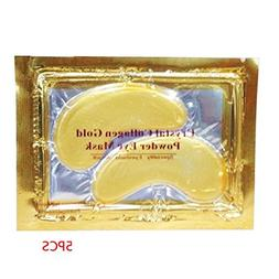 5 Pack Gold Crystal Collagen Eye Mask Hotsale Relieve Black