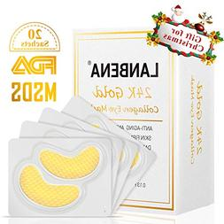 Gold Eye Mask Eye Wrinkle Pads & Patches for Dark Circles, P