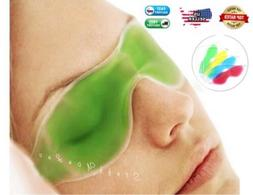HealthAndYoga Relaxing Gel Eye Mask with Strap-on Velcro | C
