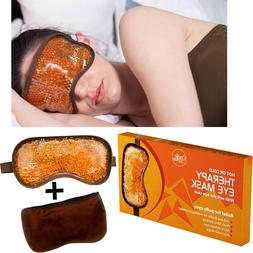 Hot and Cold Gel Bead Therapy Eye Mask for Puffy Eyes -> Sle
