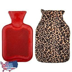 Bodico, Hot Water Bottle with Eye Mask Set, Leopard