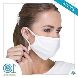 Cottonique Hypoallergenic Face Mask with Adjustable Earloops