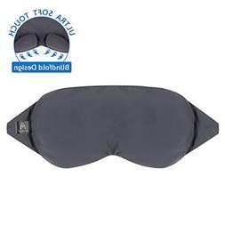 Sleep Eye Mask - Patented Nose Baffle Design, Blocks Out 99%