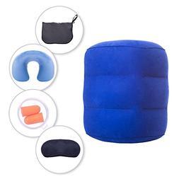 iTreasureLLC Inflatable Travel Pillow Set Kids & Adult - Tod