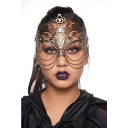 Kayso K2012VN Vintage Laser Cut Mask with Clear Rhinestones
