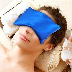 Karmick Hot Cold Eye Mask Blue Lavender and Flax Seed Filled
