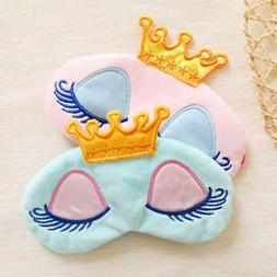 Kids Boy Girl Cute Cartoon Soft Velvet Helpful Sleeping Eye