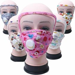 Kids Toddler Child Reusable Cloth Face Mask with Eyes Shield