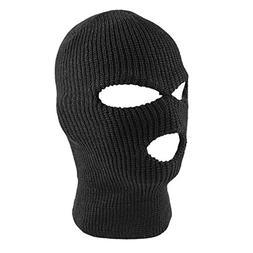 Knit Sew Acrylic Outdoor Full Face Cover Thermal Ski Mask by
