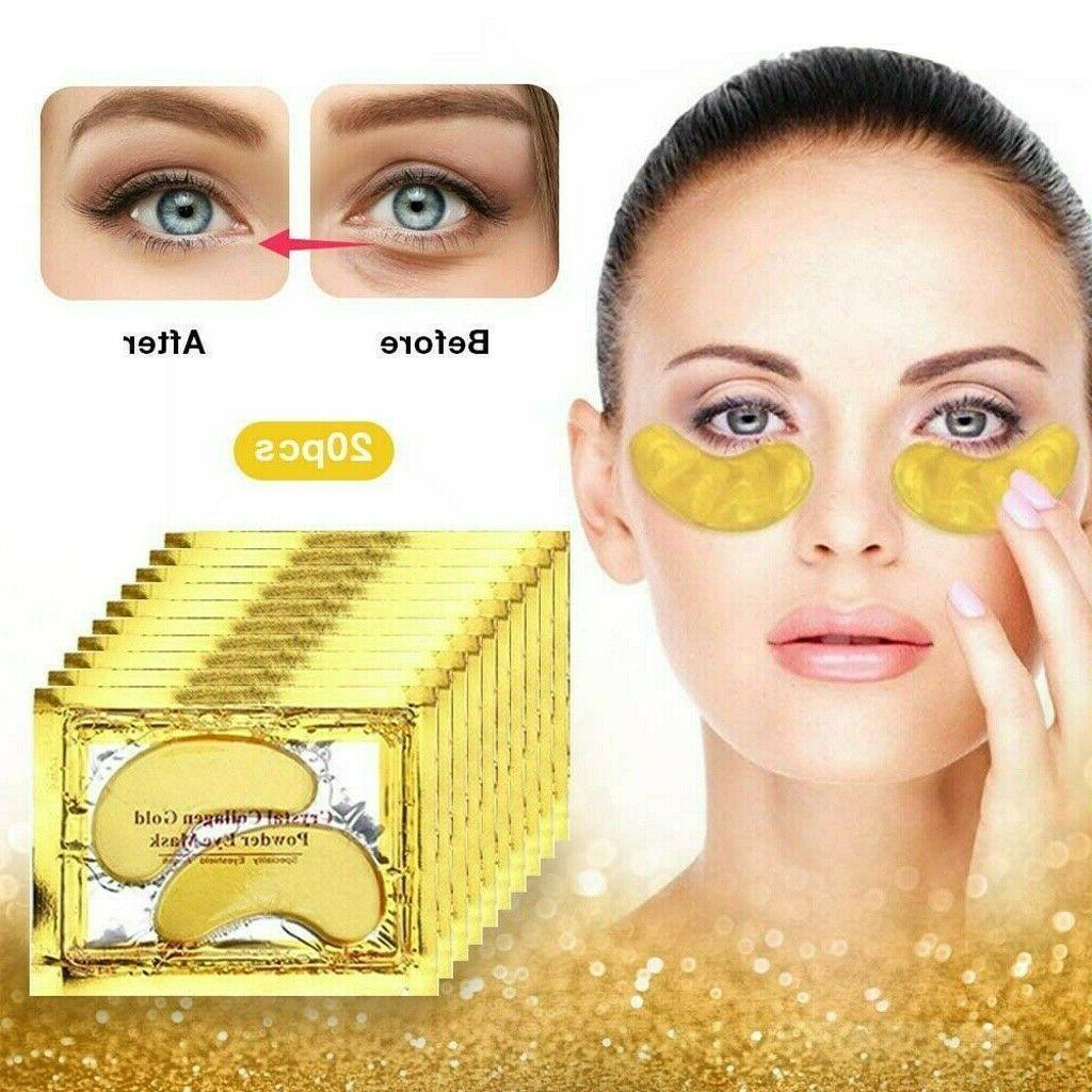 60Pairs Under Eye Mask Gold Anti Wrinkle Dark Gel